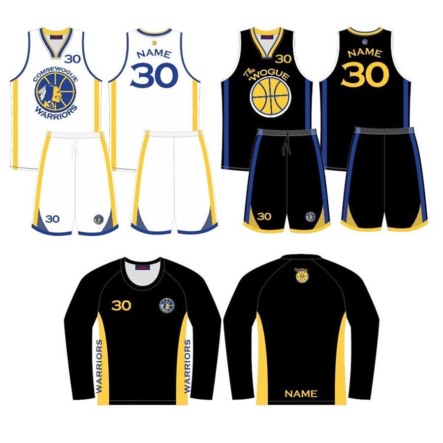 Warriors Basketball Club 2019 Reversible Uniform & Shooting Shirt Kit